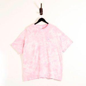 Noah Pink Tie Dye Logo Tee T-Shirt XL